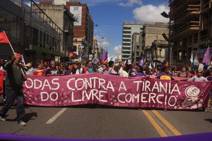 Marcha inaugural Jornada Continental Montevideo