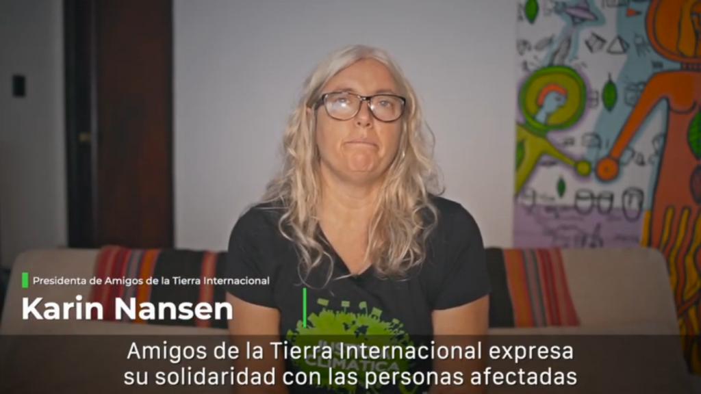 Karin Nansen, presidenta de Amigos de la Tierra Internacional